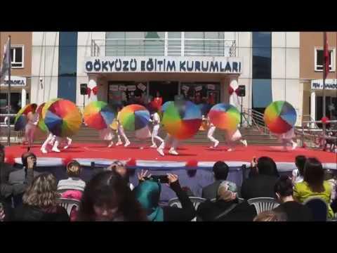 Özel Gökyüzü Eğitim Kurumları 23 Nisan Gösterileri 3/B Sınıfı Şemsiye Gösterisi Performansı
