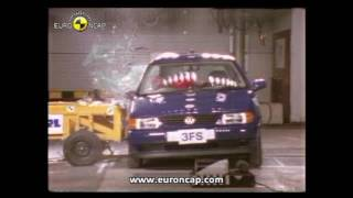 Euro NCAP 20th Anniversary of Life-Saving Crash Tests - VW polo 1997 | AutoMotoTV