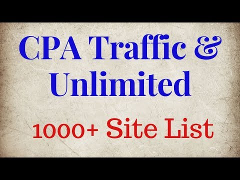 Unlimited free traffic sources for cpa marketing || online earning tutorial thumbnail