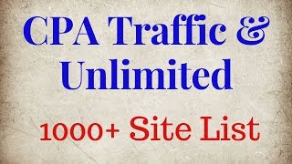 Unlimited free traffic sources for cpa marketing || online earning tutorial