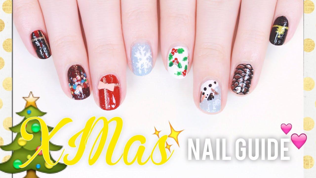 ❅ XMAS NAIL GUIDE ❅ 10 süße Nageldesigns für Winter & Weihnachten ...