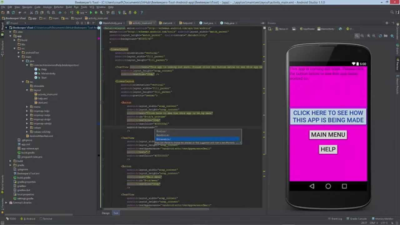 Android code how to change the background and text color
