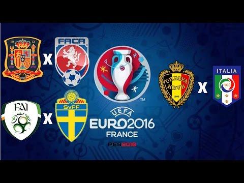 EUROCOPA -2016 - GD: ESPANHA - REP. TCHECA / GE: IRLANDA - SUECIA / BÉLGICA - ITÁLIA