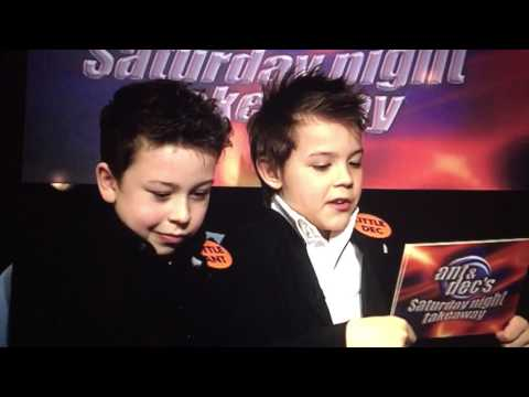 Little Ant and Dec interview big Ant and Dec