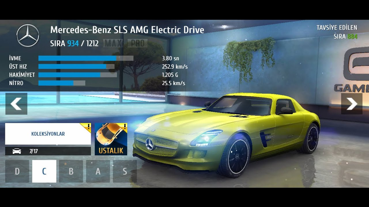 asphalt 8 mercedes benz sls amg electric drive