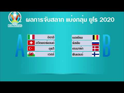 ผลการจับสลาก รอบแบ่งกลุ่ม ฟุตบอล ยูโร 2020 รอบสุดท้าย