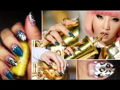 2NE1 Minzy Inspired Nails - Falling in Love MV - YouTube Dara Falling In Love Nails