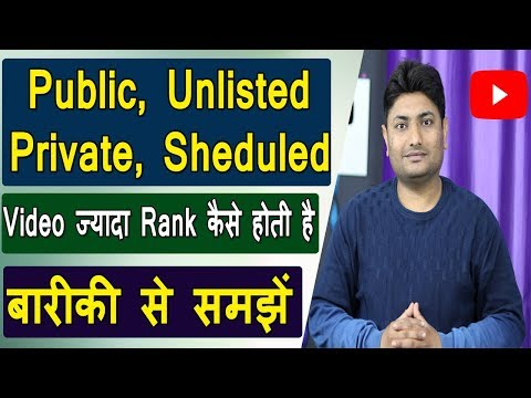 What Is The Difference Between Private, Scheduled, Public And Unlisted On Youtube