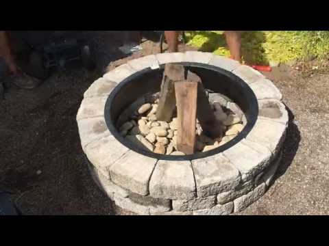 How To Build A Fire Pit in 90 Seconds!