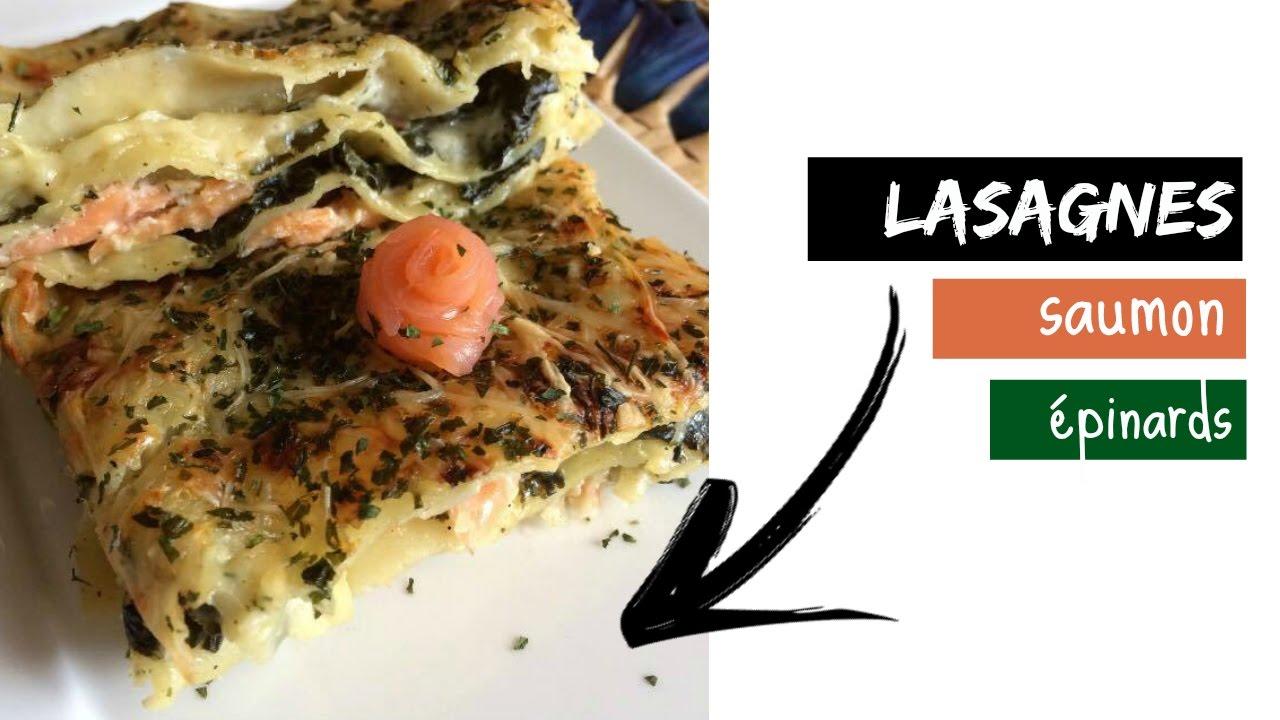 Lasagnes saumon-épinards - Recette simple et rapide ...