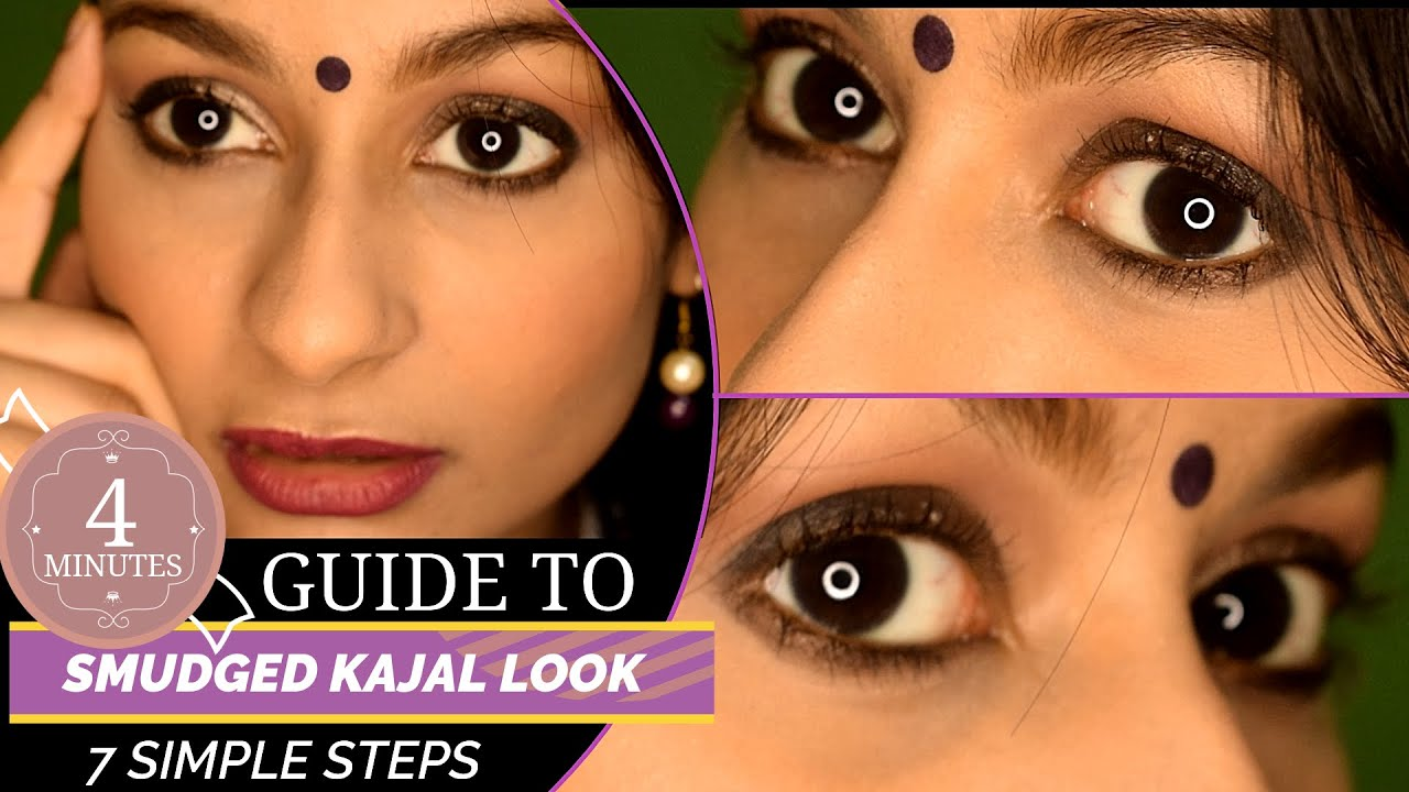 SMUDGED KAJAL LOOK  Quick and Easy Eye Makeup Makeup Tips and Tricks  Ragini Daman