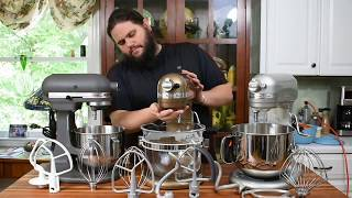 Comparison of Kitchenaid's Bowl-Lift Stand Mixers