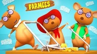 Three Blind Mice | Nursery Rhymes | Kids Songs | Rhymes For Kids by Farmees