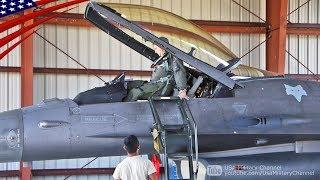 スクランブル訓練を行うサウスカロライナ空軍州兵・第169戦闘航空団のF-1...