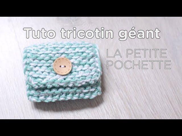 Tuto tricotin : la petite pochette / Loom knit a small purse