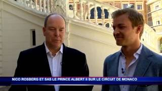 S. A. S. le Prince Albert II et Nico Rosberg sur le circuit de Monaco