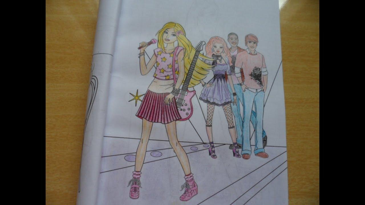 Colorindo Barbie 365 Atividades E Desenhos Para Colorir Youtube
