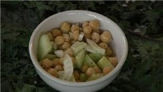 Bean Salads : A Greek Garbanzo Bean Salad
