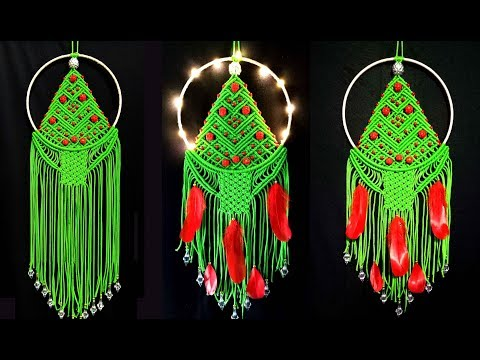 DIY Macrame Wall Hanging Christmas Tree | New and Unique Design Macrame Christmas Decoration Craft