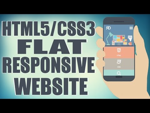 HTML5/CSS3 Flat Responsive Website – Start To Finish Web Design Tutorial