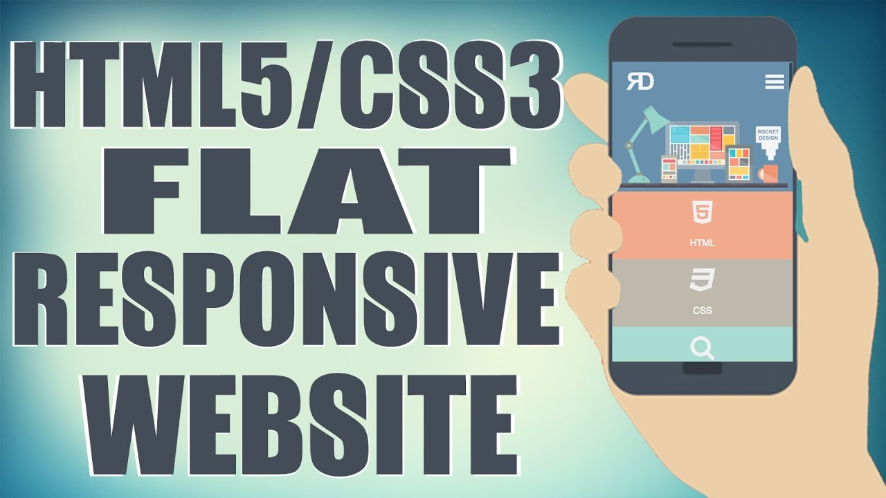Html5 Css3 Flat Responsive Website Start To Finish Web Design Tutorial Youtube