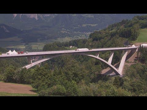 Highest bridge in Europe opens