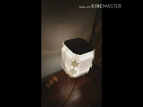 best out of waste material /very simple craft idea 4 making lamp