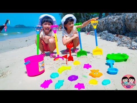 หนูยิ้มหนูแย้ม | เล่นตักทรายที่ทะเล ช่วงปิดเทอม AO NANG BEACH KRABI