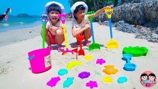 หนูยิ้มหนูแย้ม   เล่นตักทรายที่ทะเล ช่วงปิดเทอม AO NANG BEACH KRABI