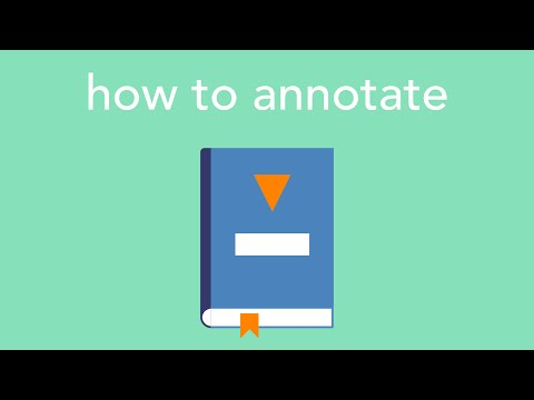 how to annotate
