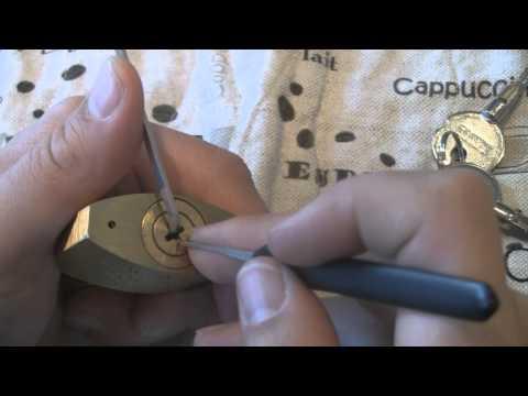 FANAL 16 pin cross keyway padlock picked open SPP