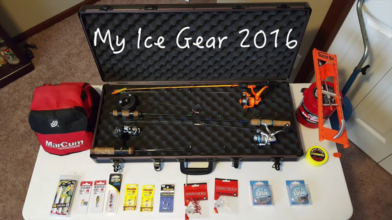 My ice fishing gear youtube for New ice fishing gear 2017