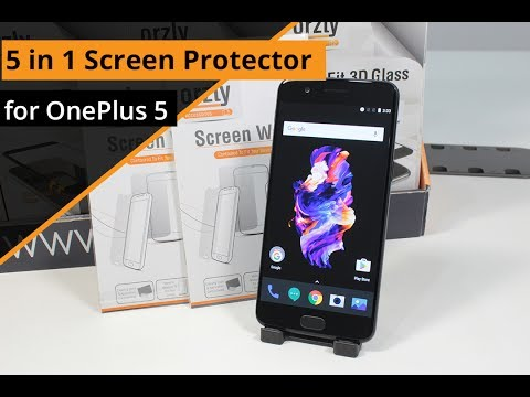 Orzly - 5 in 1 Screen Protector for OnePlus 5