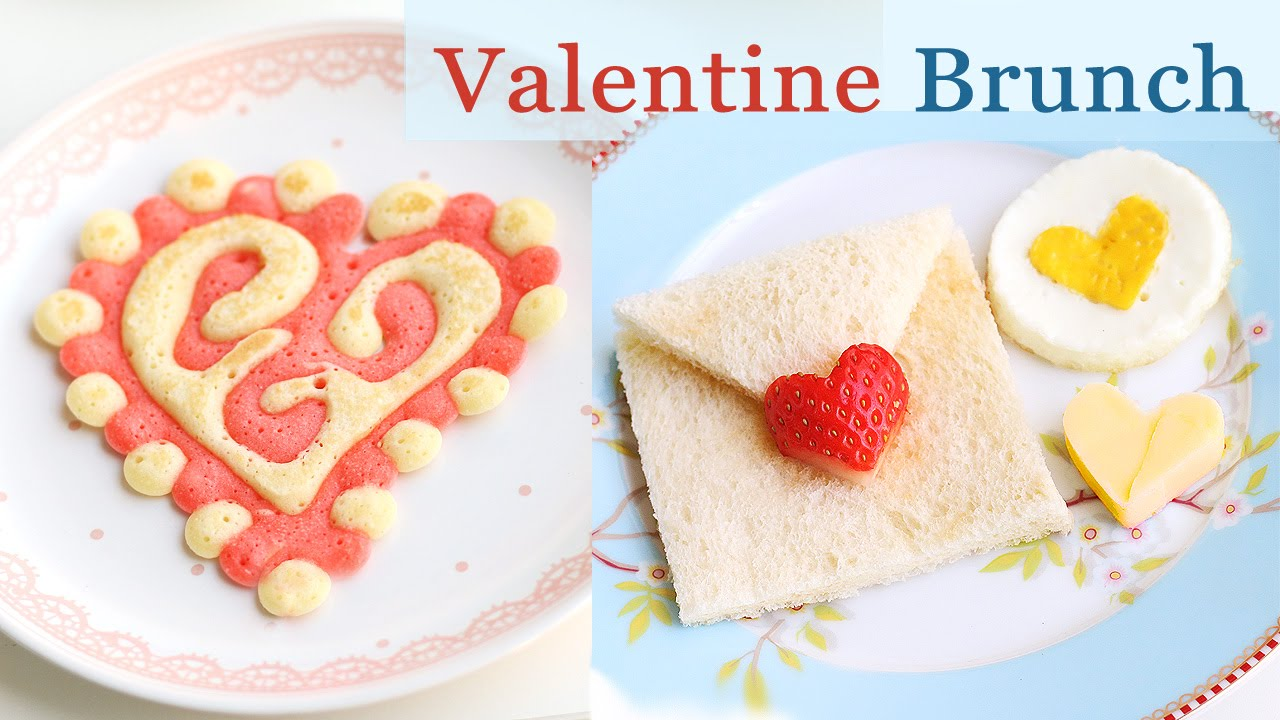 Valentine Pancakes Breakfast Ideas Youtube