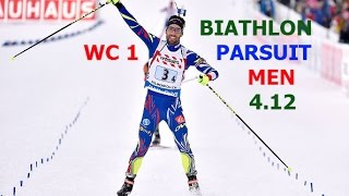 BIATHLON PARSUIT MEN 4.12.2016  World Cup 1 Ostersund (Sweden)