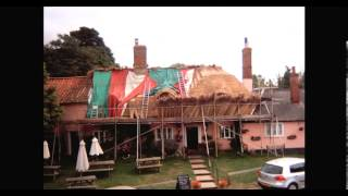 The Sorrel Horse re-thatching 2012. Front view.