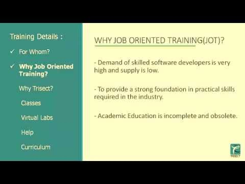 Job Oriented Training for IT industry