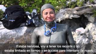 Estrella Navarro Broke the Mexican Records in the Blue Hole