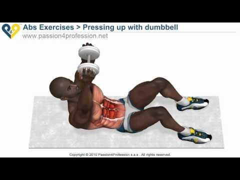 Tập cơ bụng - Cơ bụng trên- Pressing up with dumbbell