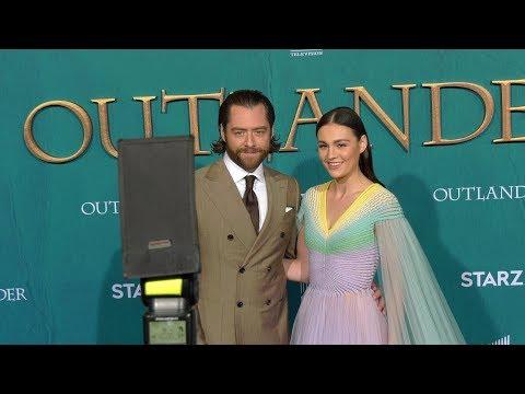 "Richard Rankin, Sophie Skelton STARZ ""Outlander"" Season 5 World Premiere Red Carpet"