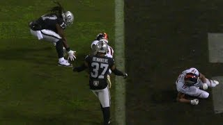 Dwayne Harris Smart 99 Yard Punt Return TD | Broncos vs. Raiders | NFL