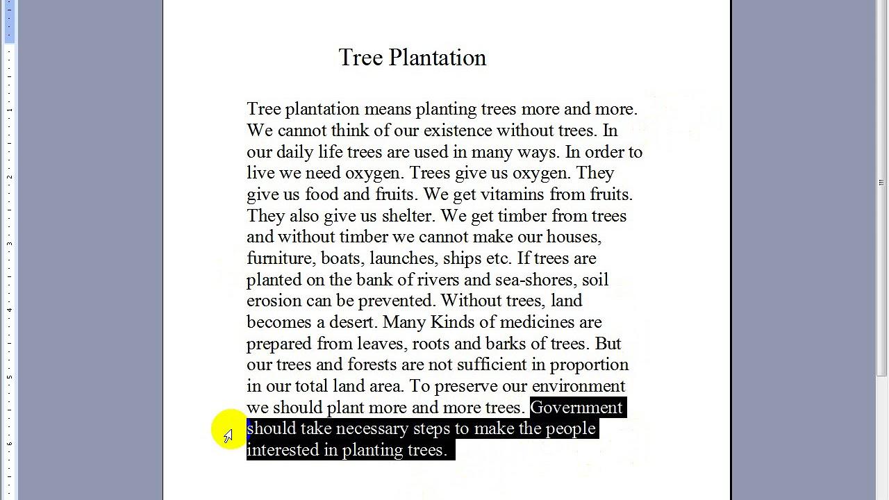 Tree Plantation Paragraph PSC,JSC,SSC,HSC - YouTube
