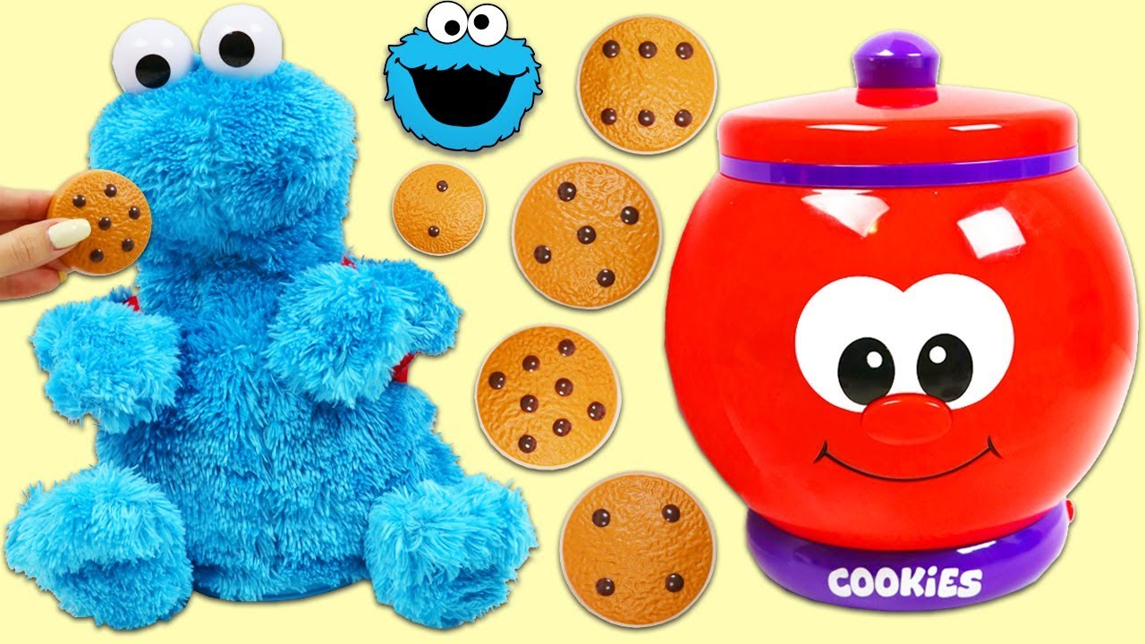 Learn To Count With Sesame Street Cookie Monster Talking Jar Playset