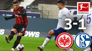Returning Luka Jovic scores Brace | Eintracht Frankfurt - FC Schalke 04 | 3-1 | Highlights | MD 16