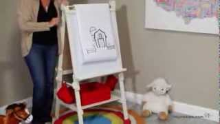 Classic Playtime Deluxe Easel - Vanilla - Product Review Video