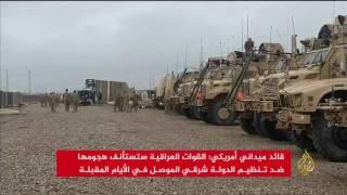 التحالف يقصف الجسر الحديدي الرابط بين جانبي الموصل
