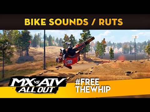 MX vs ATV All Out In-Game Bike Sounds And Ruts!