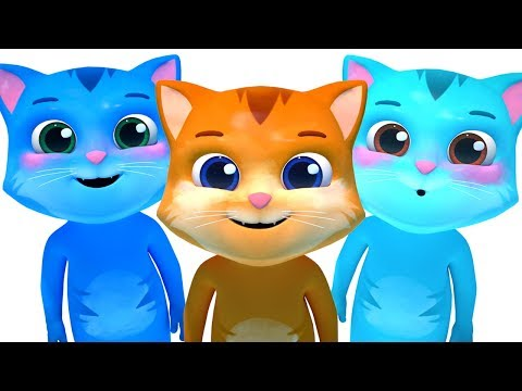 THREE LITTLE KITTENS CHILDREN MUSIC WITH 3D ANIMATION   NURSERY RHYMES FOR KIDS BY SMARTBABYSONGS