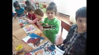նկարում են հինգ տարեկանները
