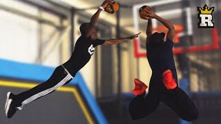 KSI & TBJZL's Trampoline Slam Dunk Challenge | Rule'm Sports